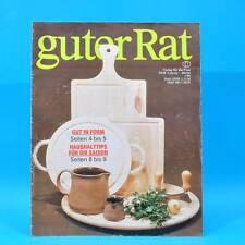 Guter Rat 1-1988 Verlag für die Frau DDR Kühlautomat Holz Naumburg Schnitzen A