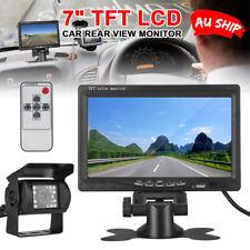 "7"" TFT LCD Monitor Car Rear View + 18 IR LED Reversing CCD Camera Kit Nm"