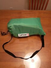 Fatboy Lamzac The Original Inflatable Portable Lounge Chair Sofa Lime Green+Case