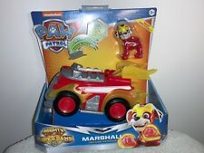 NEW PAW PATROL MIGHTY PUPS SUPER PAWS Marshall  DELUXE VEHICLE LIGHT & SOUNDS