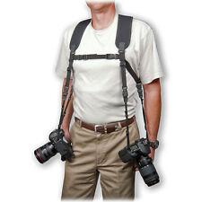 Optech Dual Arnés (Reg) cómodamente + Seguro Para Llevar 2 cámaras O PRISMÁTICOS