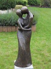 Bronzeskulptur, modernes Liebespaar, Dekoration für Haus und Garten *