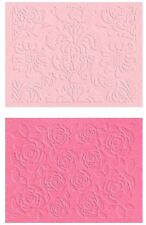 Lifestyle Crafts QuicKutz, Double Pack, A2 Embossing Folders  FLORAL  ~ EF-0001