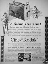 PUBLICITÉ CINÉ - KODAK  LE CINÉMA CHEZ VOUS VOUS ET LES VÔTRES FILMÉS PAR VOUS
