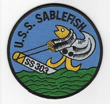USS Sablefish SS 303 - Fish Riding a Torpedo BC Patch Cat No B590