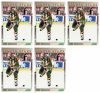 (5) 1991-92 Score Young Superstars Hockey #35 Mike Modano Card Lot North Stars
