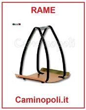 Porta legna in RAME da Camino Design Moderno per Portariviste Portalegna.com
