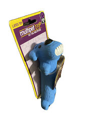 Multipet Blue Loofa Dog Latex - Dog Toy Squeaky