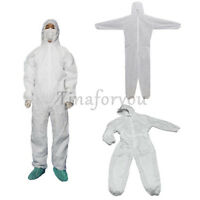 Disposable White Coveralls Dust Spray Suit Siamese Non-woven Dust-proof Clothing