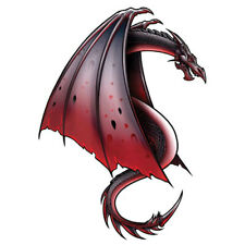 """""""Dragon"""" Temporary Tattoo, Flying Red Winged Dragon w/ Stinger, USA Made"""