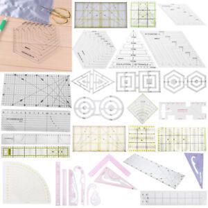 Transparent Quilting Sewing Patchwork Ruler Cutting Craft Tools DIY Tailor UK