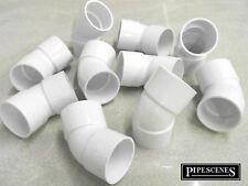 Waste Pipe Fittings 45 DEG for 40mm 43mm x 10 for Standard UK Solvent Weld Pipe