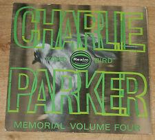 CHARLIE PARKER MEMORIAL VOLUME FOUR 1963 UK LP REALM JAZZ SAVOY SERIES RM 123