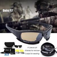 Daisy X7 Military Goggles Bullet-proof Army Polarized Sunglasses 4 Lens Hunting