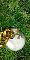 TOILET PAPER AND SNOW CHRISTMAS TREE ORNAMENT HAND CRAFTED