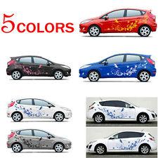 Brand New Black DIY Car Body Vinyl Stickers Natural Flower Vine Dragonfly Decal