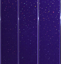 Purple Sparkle & Chrome Wall Bathroom PVC Panels Waterproof WC Glitter Cladding