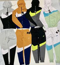 Nike Swoosh Men's Fleece Zip Up Hoodie And Joggers Complete Set Free Shipping