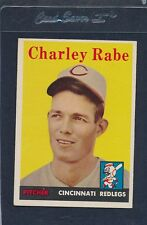 1958 Topps #376 Charley Rabe Reds EX/MT 58T376-100915-1