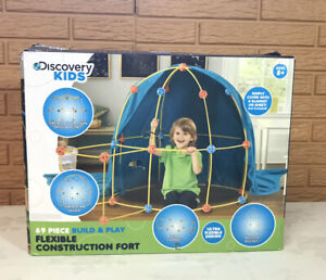 Discovery Kids 115 Piece Construction Fort Build & Play Educational Set, STEM XL