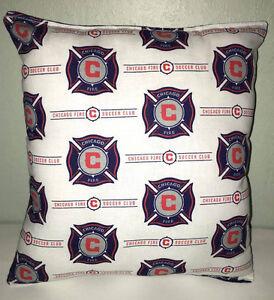 Chicago Fire Pillow Fire Pillow Chicago's Fire MLS Handmade in USA  Soccer Team