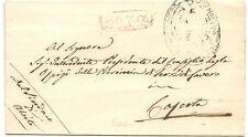 P7298  Prefilatelica, Stato Pontificio, Frosinone, Sora, lineare in ovale rosso