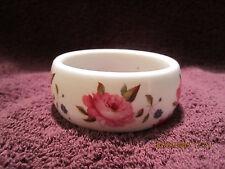 Kenneth J Lane Royal Worcester Fine Bone China Floral Bangle Bracele England
