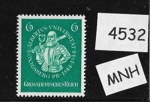 MNH WWII Germany postage stamp / 1944 / WWII 3rd Reich / Prussia Duke Albert MNH