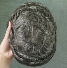 French Lace Front Hair System Mens Hairpieces Toupee Poly Skin Sides #350