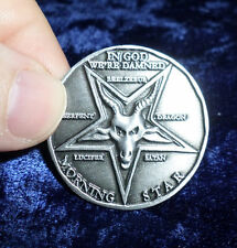 Lucifer Pentecostal Coin in Antique Silver finish Cosplay Prop replica
