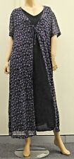 Black & Purple Long Overlay Dress Size 20 Whoopi , supporting PSC Co-op Ltd