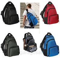 Single Shoulder Sling Backpack Pad Strap Book Bag College School Travel Commuter