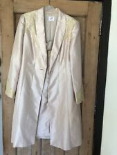 Anoushka G Wedding Suit Outfit Dress And Medium Length Jacket Gold Size 12