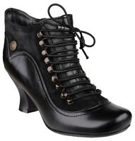 Hush Puppies Vivianna Womens Ankle Boots Victorian Style Heels Ladies Shoes