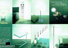 PUBLICITE ADVERTISING 016  2000  Ligne Roset  lampes lustres éclairage  (2p)