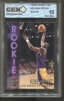 1996-97 Kobe Bryant Stadium Club #R9 Gem Mint 10 RC Rookie LA Lakers MVP HOF