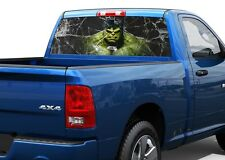 Hulk and broken glass Rear Window Decal Sticker Pick-up Truck SUV 2
