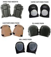 Silverline Knee Pad Inserts , Hard Cap , Leather , PU , Gel Knee Pads
