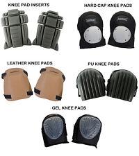 Silverline Knee Pad Inserts Hard Cap Leather Pu Gel Knee Pads
