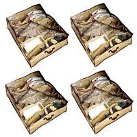 4x Schuhbox Bett | Unterbettbox Schuhe | Unterbettkommode Aufbewahrungstasche