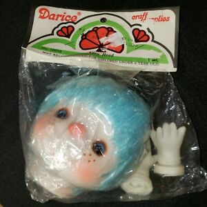 Darice Craft Suppies Yarn Head with Hands Blue