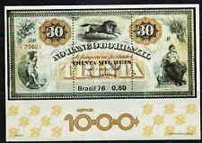 Brazil 1976 Banknote - Horse Mint Complete Souv. Sheet!