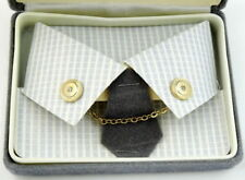 Collar Chain with Pins Goldtone New Old Stock Nos Round with Rhinestone