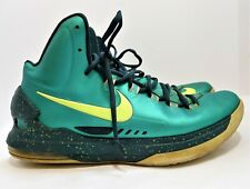 Nike Men's Atomic Teal KD 5 Hulk Volt Basketball Shoes Size 11 - **HOLES ON HEEL