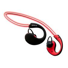 Groov-e GVBT800RD Wireless Bluetooth Sports Headphones with LED Neckband - Red