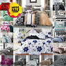 Printed Duvet Quilt Cover Set Single Double King Size Bedding & Pillowcases
