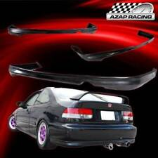 1999 2000 T-R Style Black Rear Bumper Lip Spoiler Bodykit Fits Honda Civic 2/4Dr