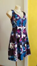 Adrianna Papell Fit & Flare Abstract Floral Party Dress. Size 10
