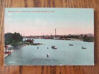 Vintage Postcard Harbor View From The Bridge Hartford Connecticut