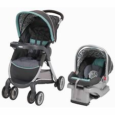 Graco FastAction Fold Click Connect Travel System, Car Seat Stroller Affinia